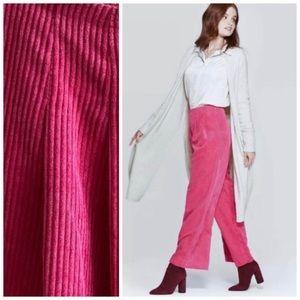 Prologue Pink Corduroy Wide Leg Pants New